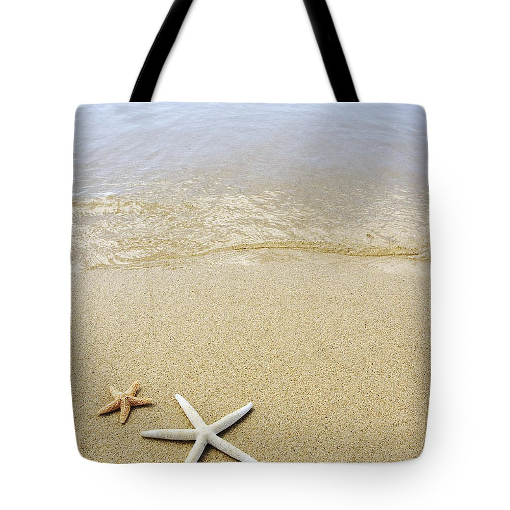 Afternoon Tote Bag featuring the photograph Starfish On Beach by Mary Van de Ven - Printscapes