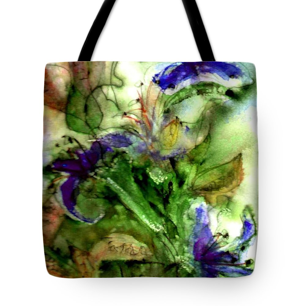 Flower Tote Bag featuring the painting Starflower by Anne Duke