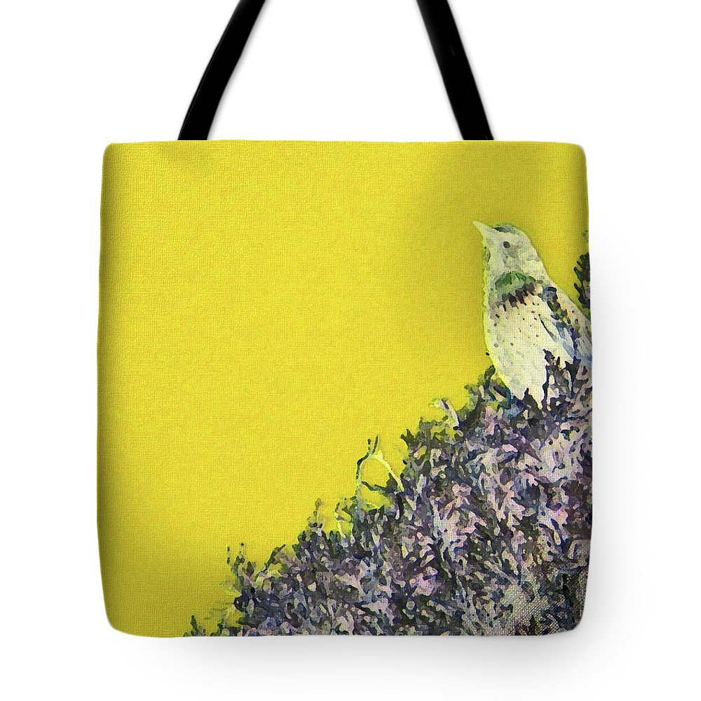 Abstract Tote Bag featuring the photograph Starling Surprise by Lenore Senior
