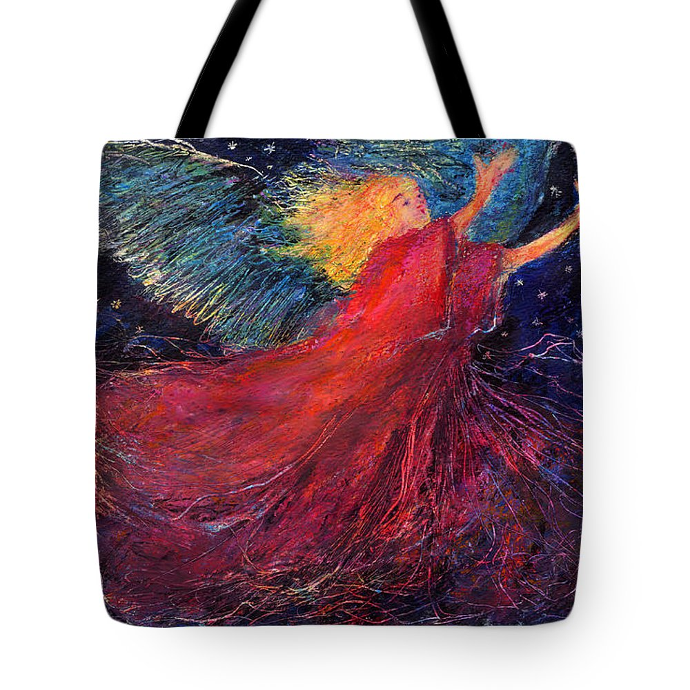 Angel Tote Bag featuring the painting Starry Angel by Diana Ludwig