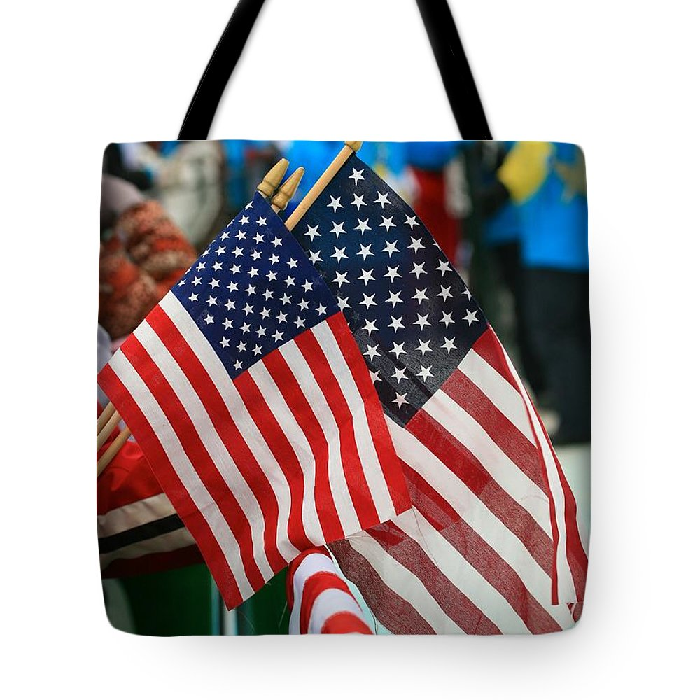 Union Tote Bag featuring the photograph Stars And Stripes by Chris Dutton