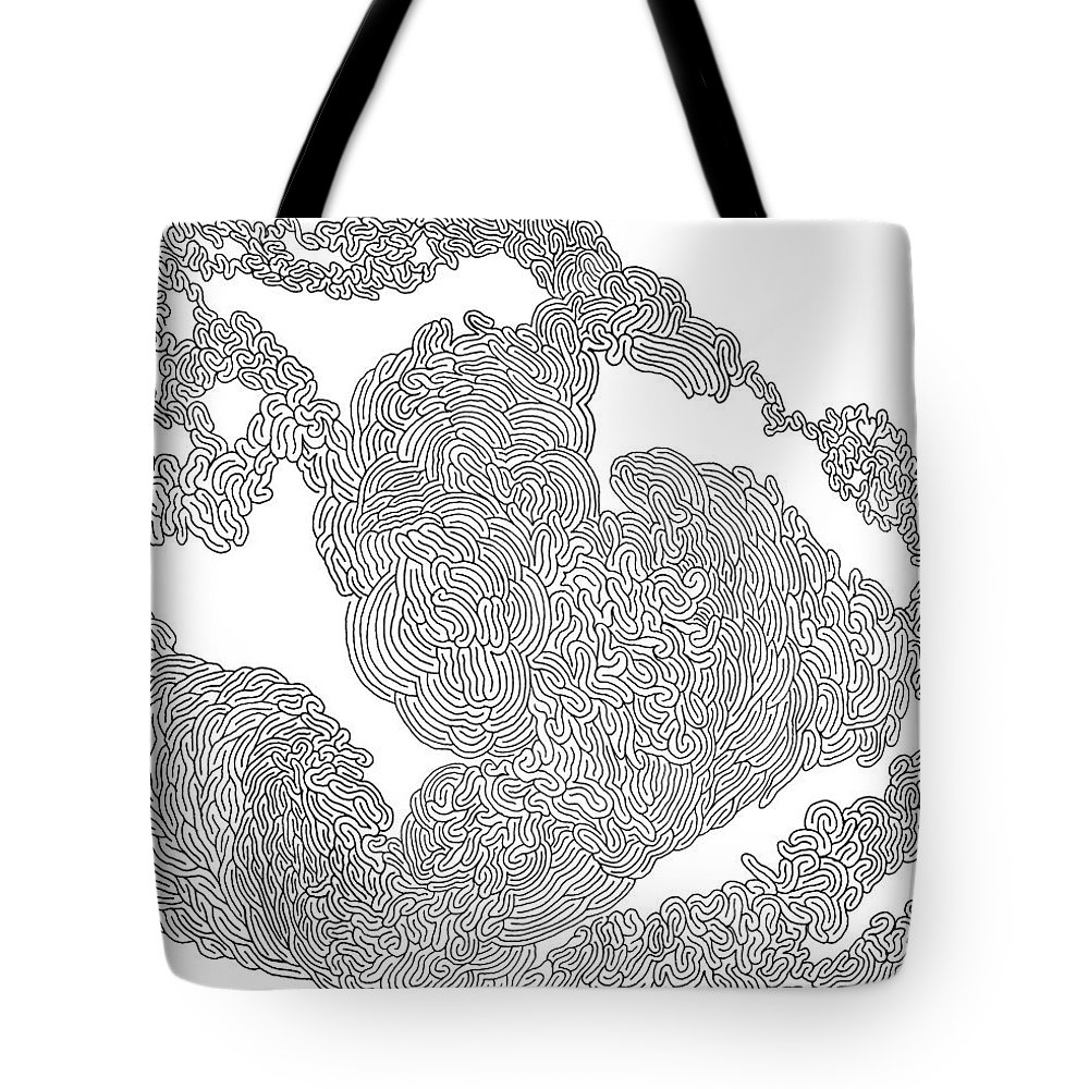 Mazes Tote Bag featuring the drawing Starting Over by Steven Natanson