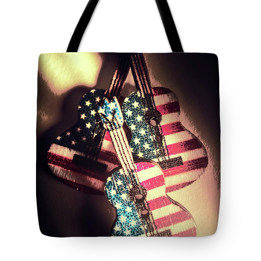 American Tote Bag featuring the photograph State Of Rock And Rock by Jorgo Photography - Wall Art Gallery