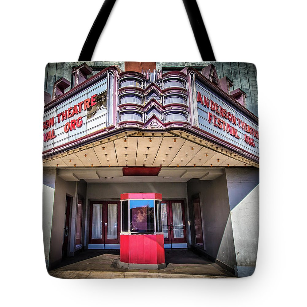 Movie Tote Bag featuring the photograph State Theater by Lynne Jenkins