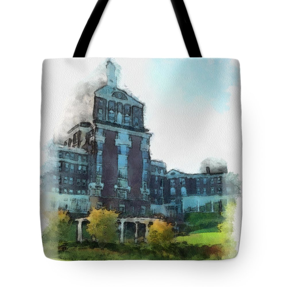 Homestead Tote Bag featuring the painting Stately Beauty by Paulette B Wright