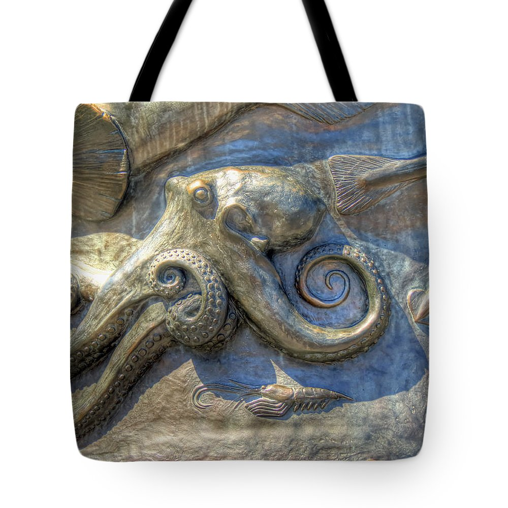Sculpture Tote Bag featuring the photograph Statue Details by Chris Anderson