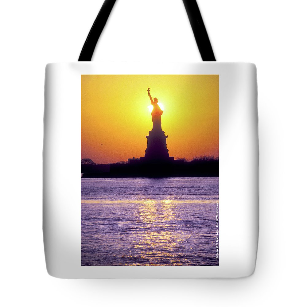 Statue Of Liberty Tote Bag featuring the photograph Statue Of Liberty by Mark Ivins