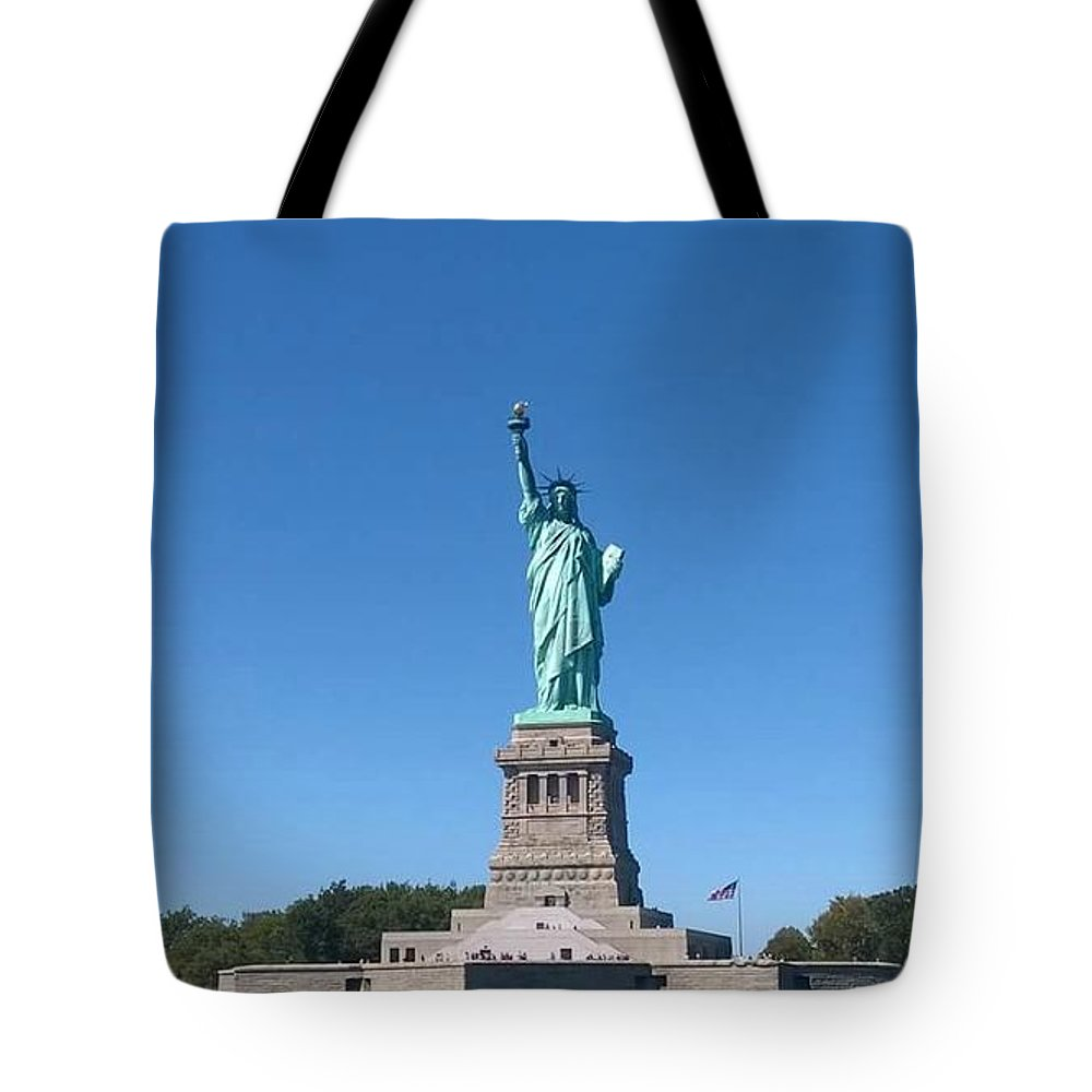 Color Tote Bag featuring the photograph Statue Of Liberty by Michele Kaniarz