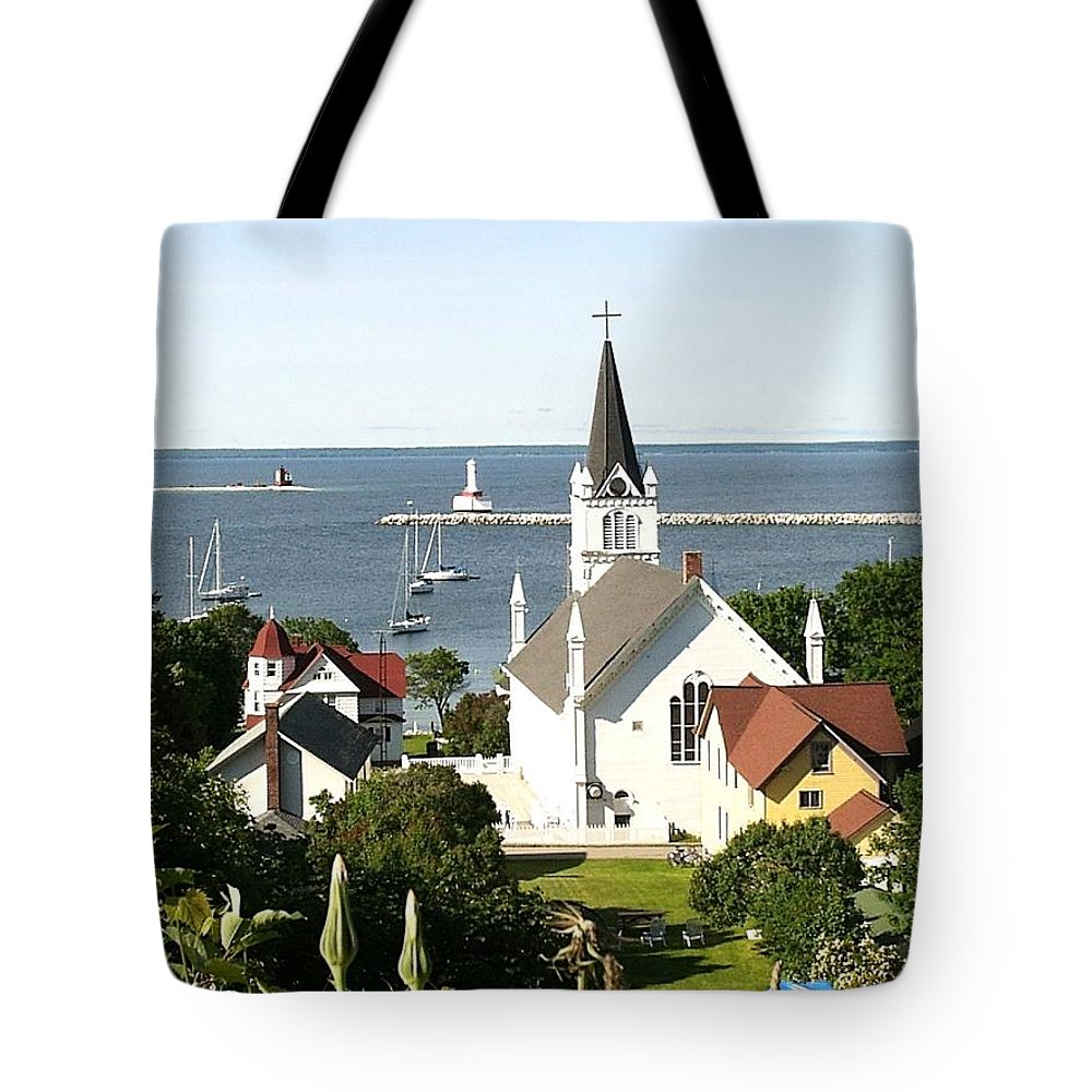 Ste. Anne's Catholic Church Tote Bag featuring the photograph Ste. Anne's Catholic Church by Keith Stokes