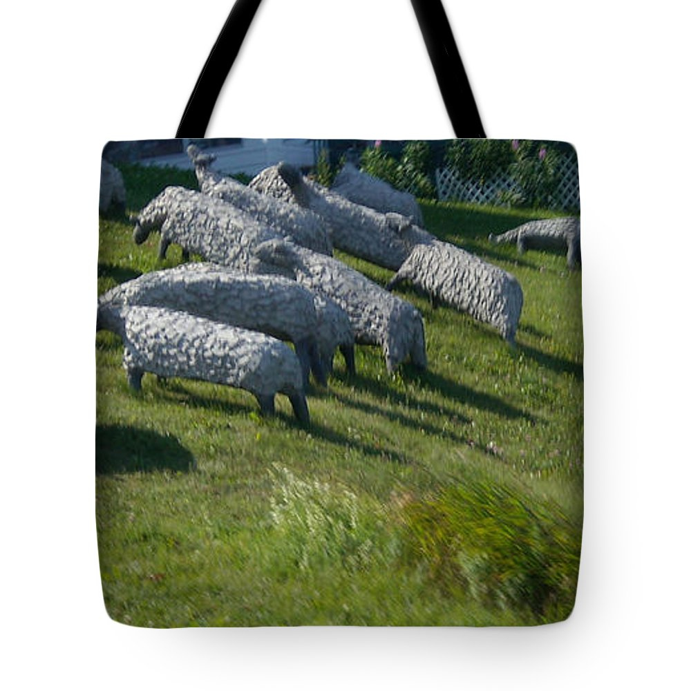 Sheep Tote Bag featuring the photograph Ste Flavie 002 by Line Gagne