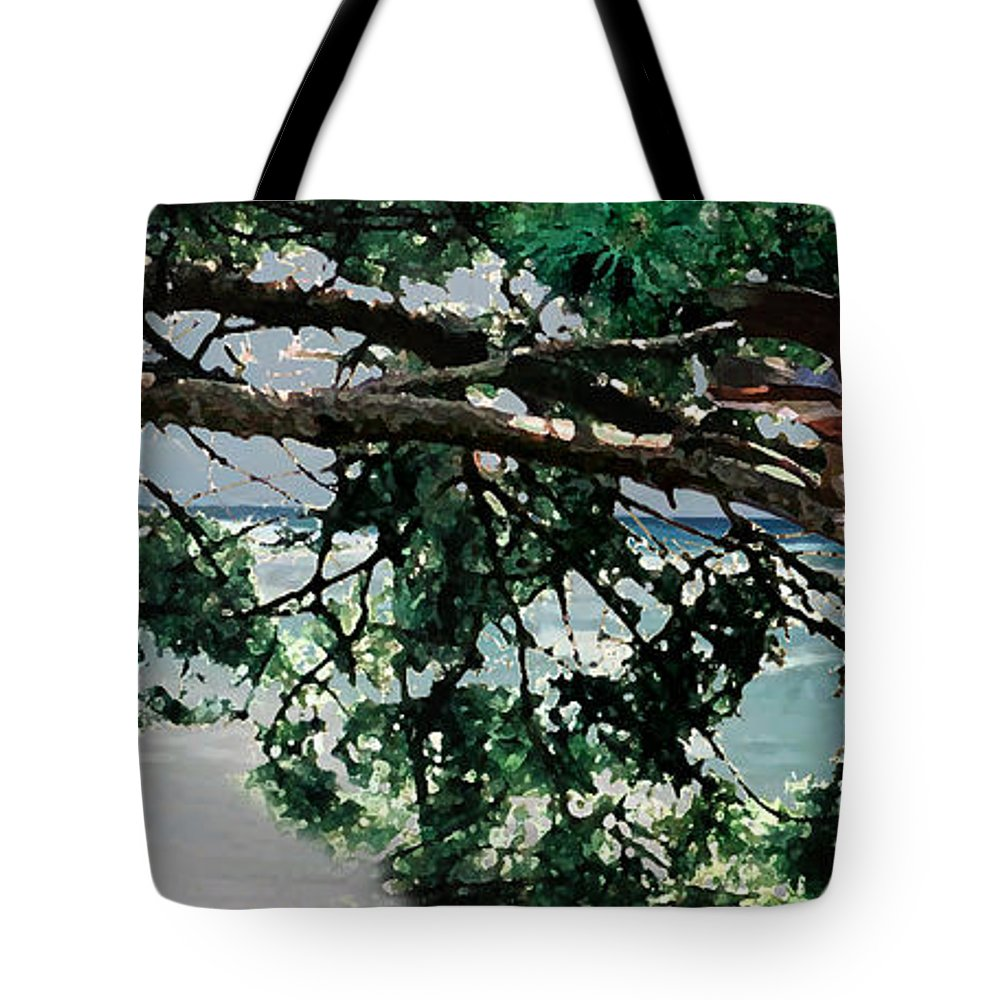 Landscape Tote Bag featuring the painting Stealth by Steve Karol