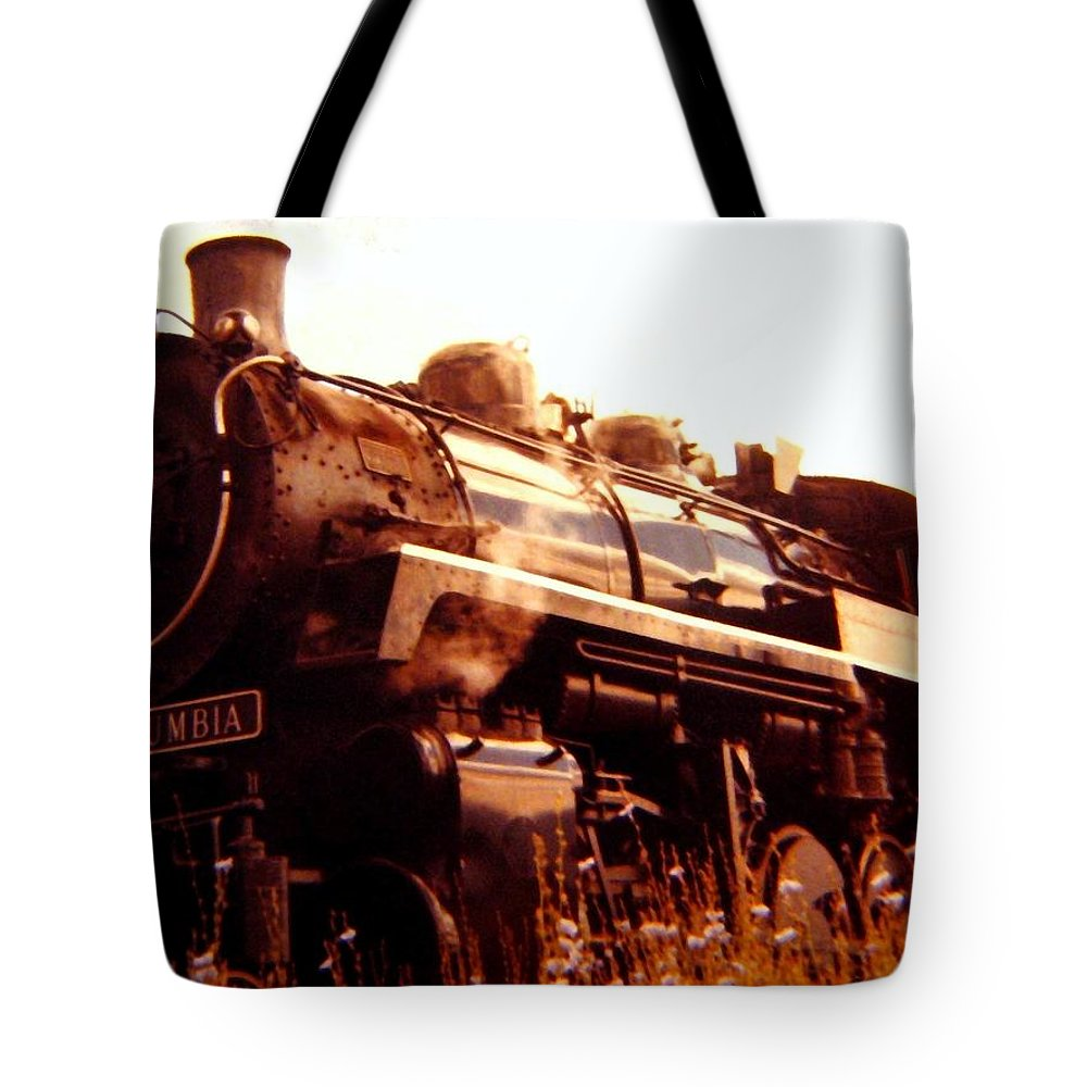 #steamengine3716 Tote Bag featuring the digital art Steam Engine 3716 by Will Borden