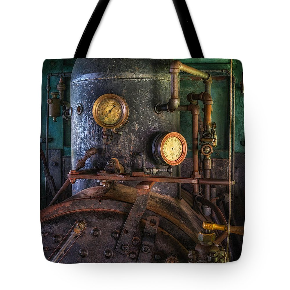 Steam Engine Tote Bag featuring the photograph Steam Engine by Mark Papke