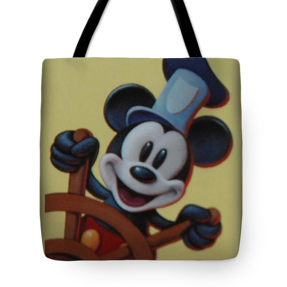 Disney Tote Bag featuring the photograph Steamboat Willy by Rob Hans