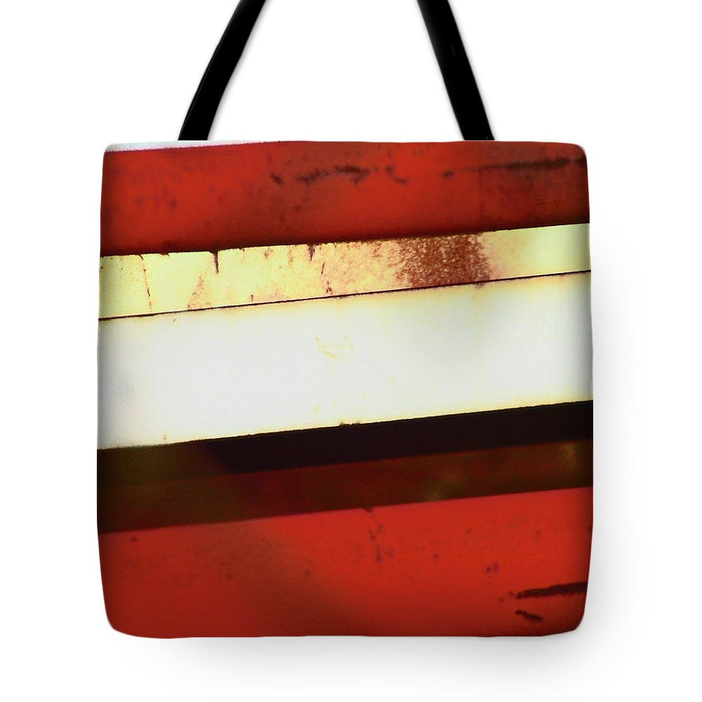 Abstract Tote Bag featuring the photograph Steel City Rust Abstract by Lenore Senior