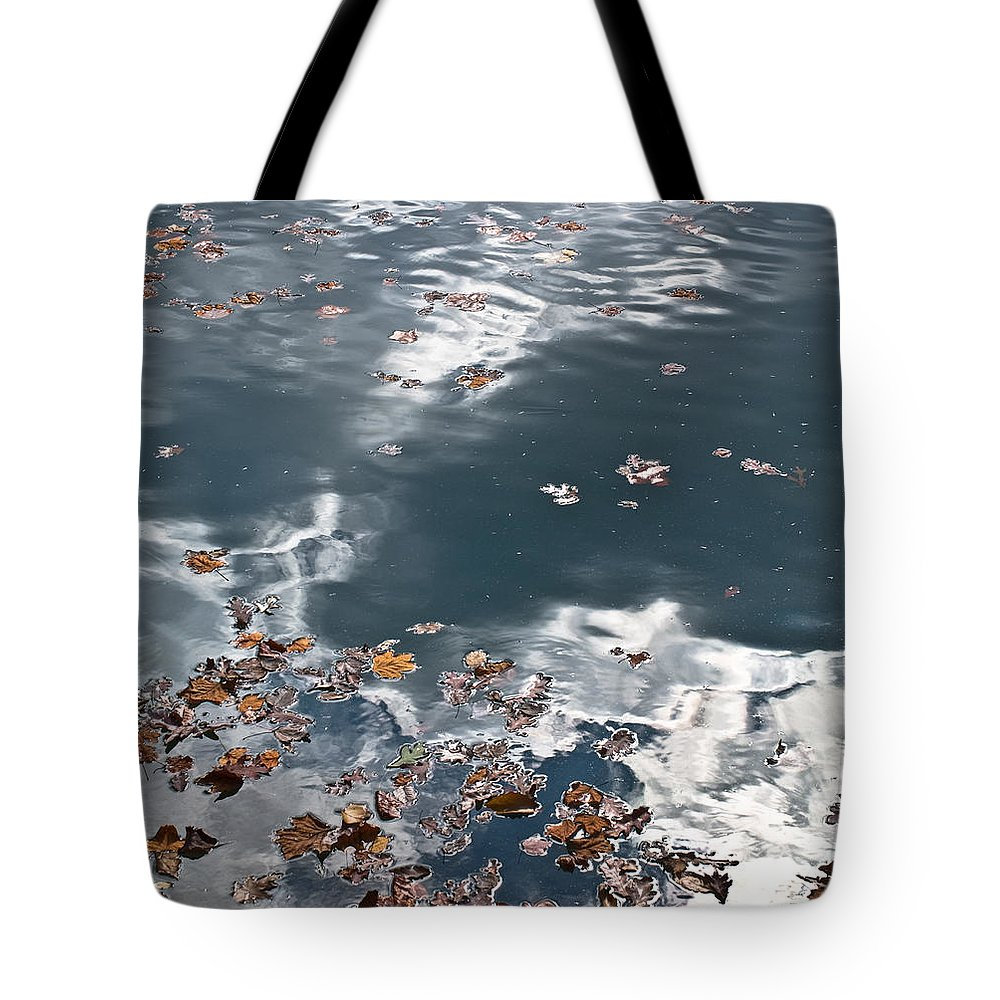 Steel Tote Bag featuring the photograph Steel Sky On Lake by Douglas Barnett