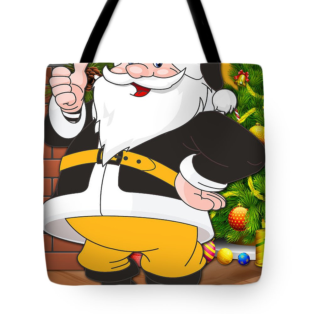 Steelers Tote Bag featuring the photograph Steelers Santa Claus by Joe Hamilton