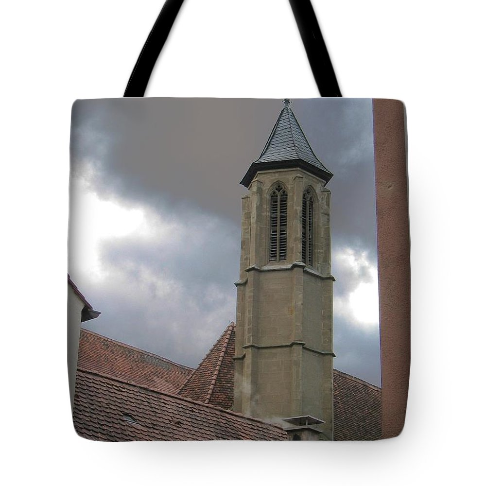 Cathedral Tote Bag featuring the photograph Steeple by Dylan Punke