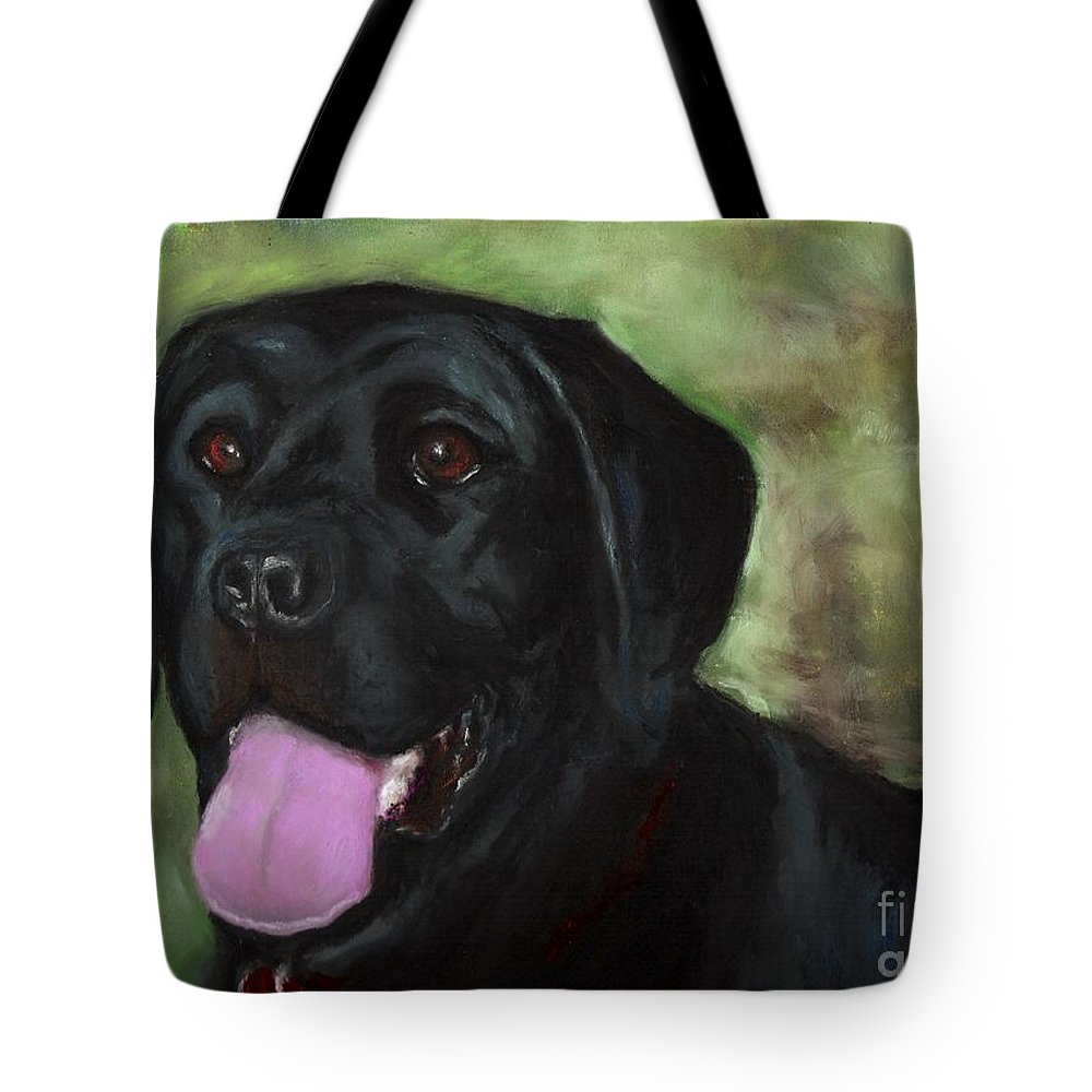 Black Lab Tote Bag featuring the painting Stella Luna by Frances Marino