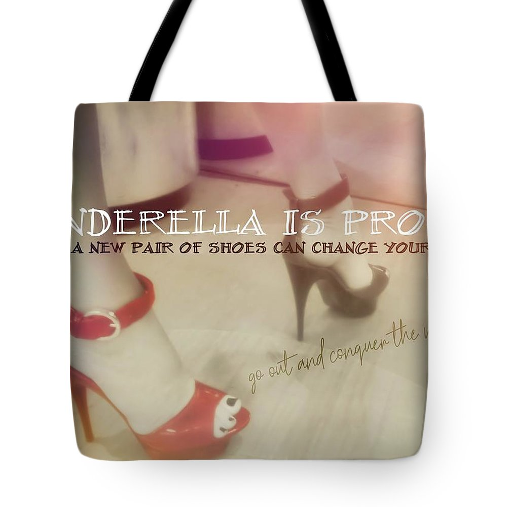 Shoes Tote Bag featuring the photograph Stellar Stilettos Quote by JAMART Photography
