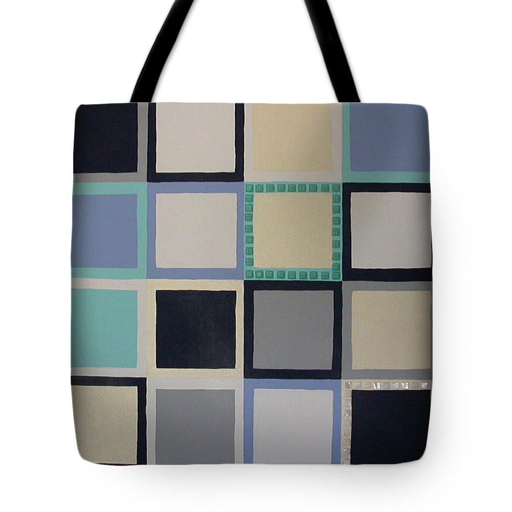 Squares Tote Bag featuring the painting Stepping Stones by Gay Dallek