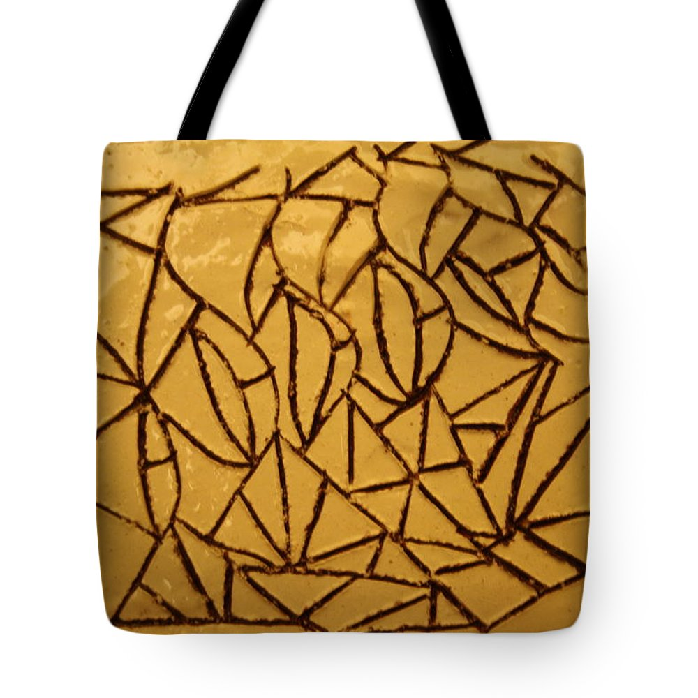Jesus Tote Bag featuring the ceramic art Steps - Tile by Gloria Ssali