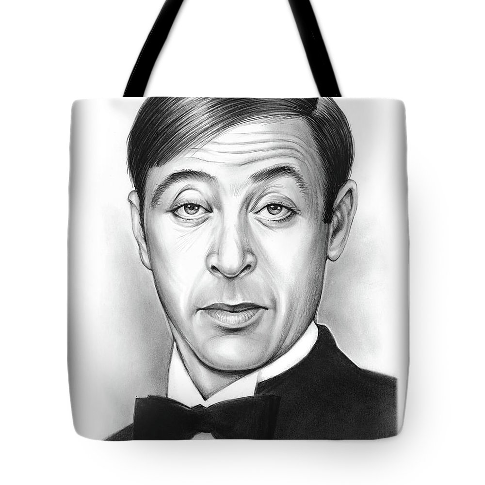 Steve Franken Tote Bag featuring the drawing Steve Franken by Greg Joens