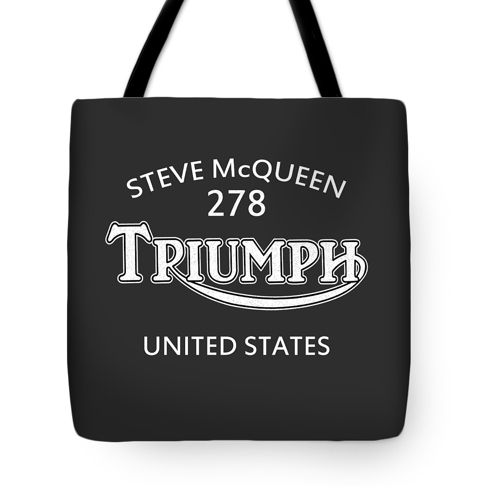 Isdt 1964 Tote Bag featuring the photograph Steve Mcqueen Isdt Triumph by Mark Rogan