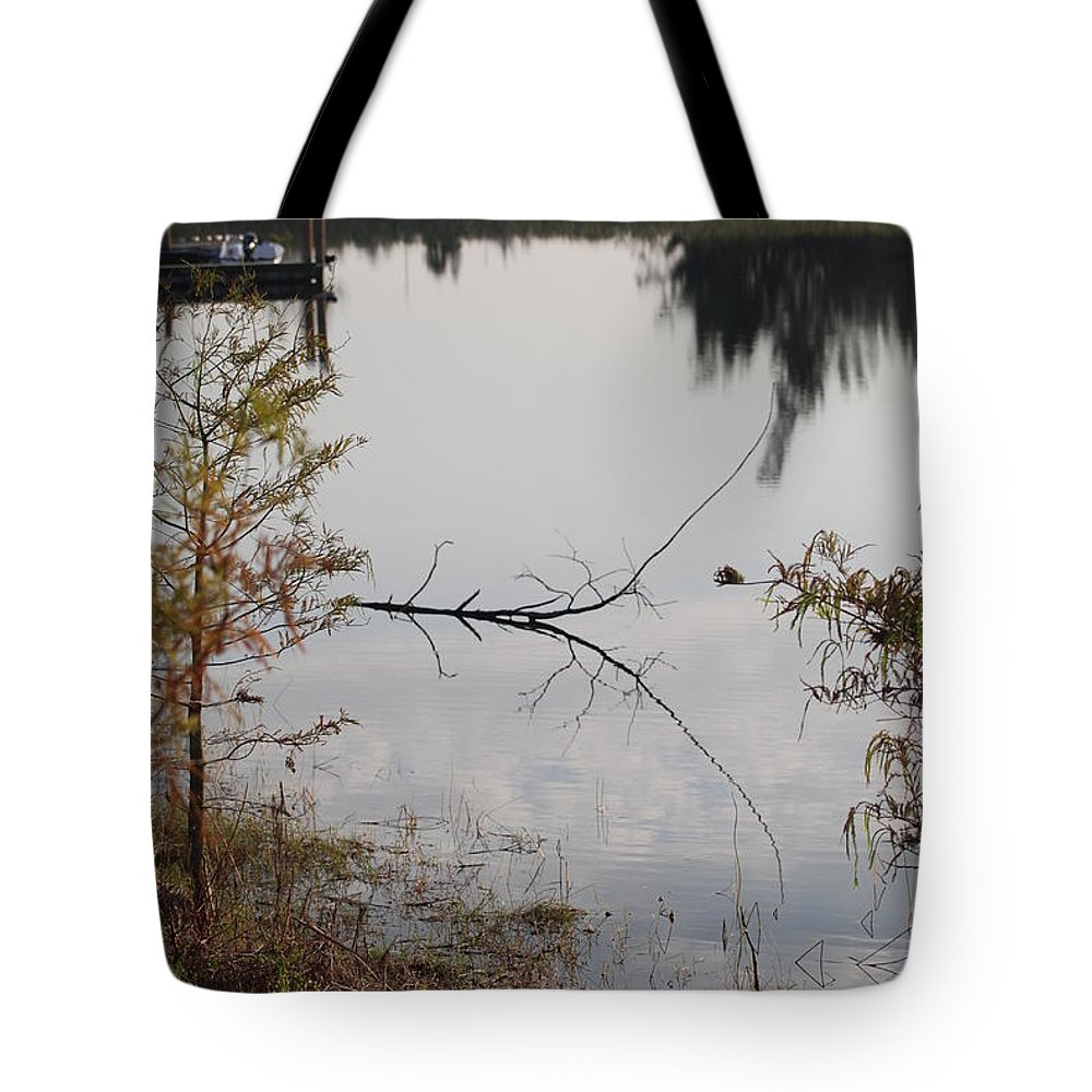 Water Tote Bag featuring the photograph Stick In The Water by Rob Hans