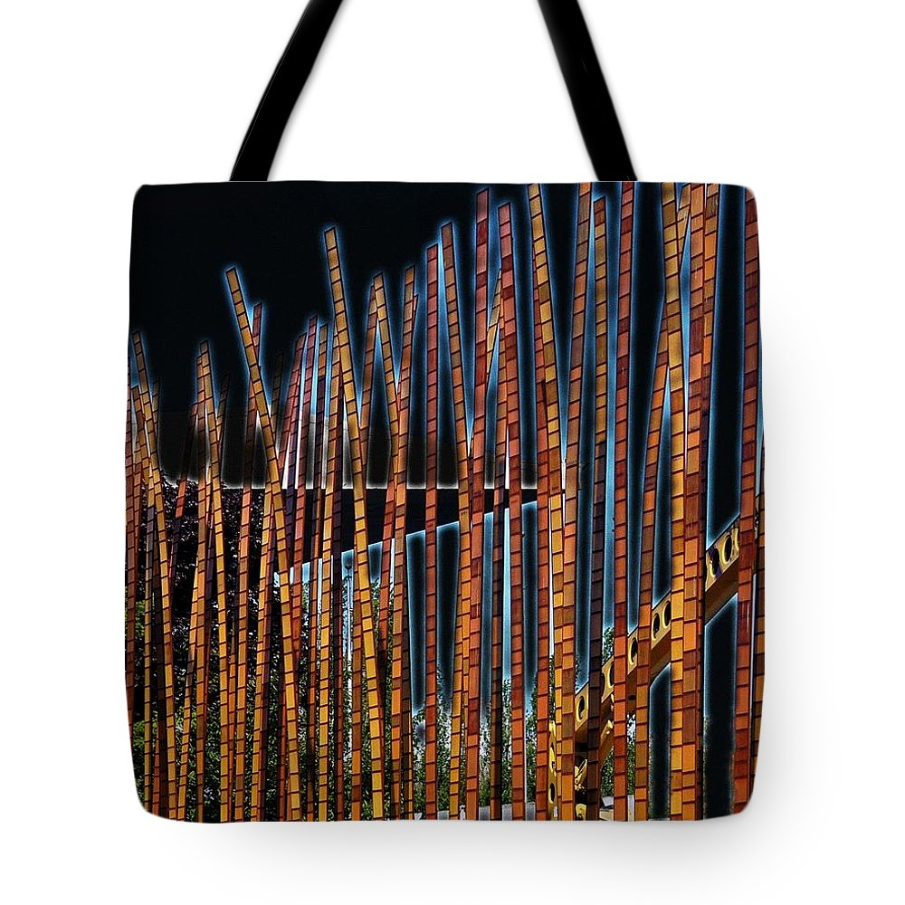 Poles Tote Bag featuring the digital art Sticks by Kenna Westerman