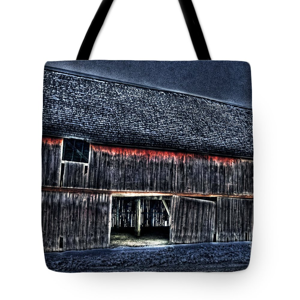 Country Tote Bag featuring the photograph Still In The Sticks Hdr by September Stone