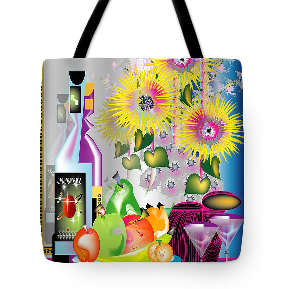 Still Life Tote Bag featuring the digital art Still Life 1 by George Pasini