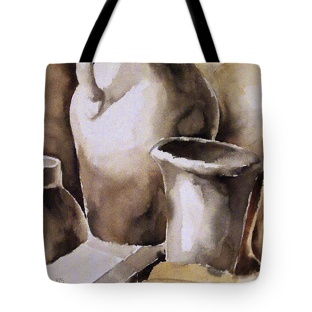 Still Life Tote Bag featuring the painting Still Life by Michael Lang