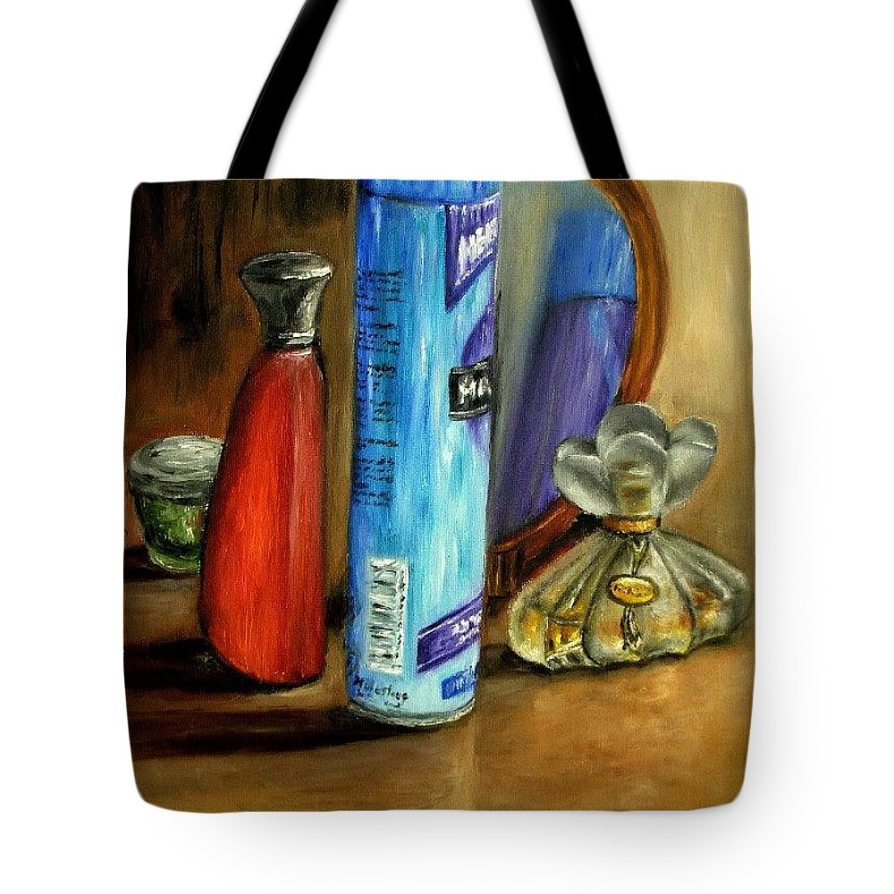 Still Life Tote Bag featuring the painting Still Life Oil Painting by Natalja Picugina