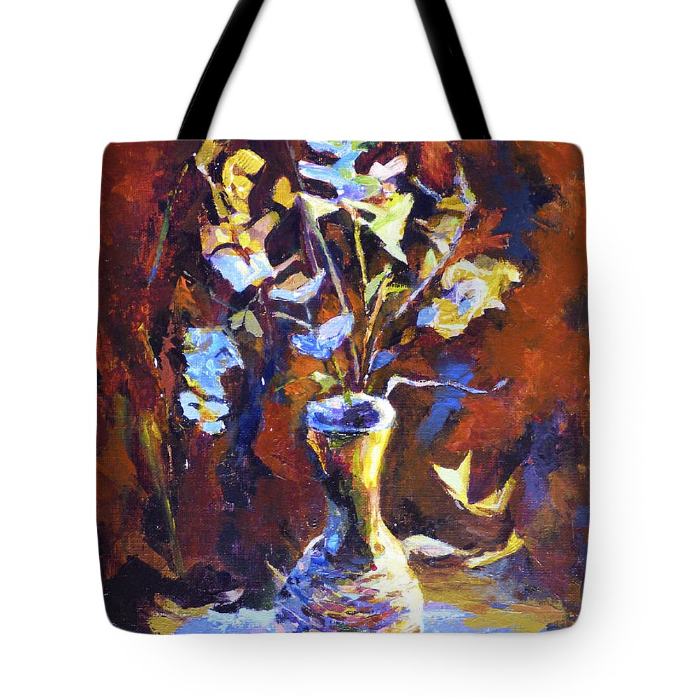 Romance Tote Bag featuring the painting Still Life. Romance Of Colour by Natalya Shvetsky