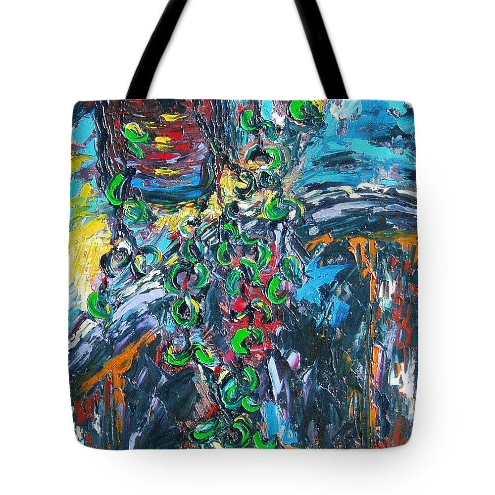 Abstract Paintings Tote Bag featuring the painting Still Life by Seon-Jeong Kim