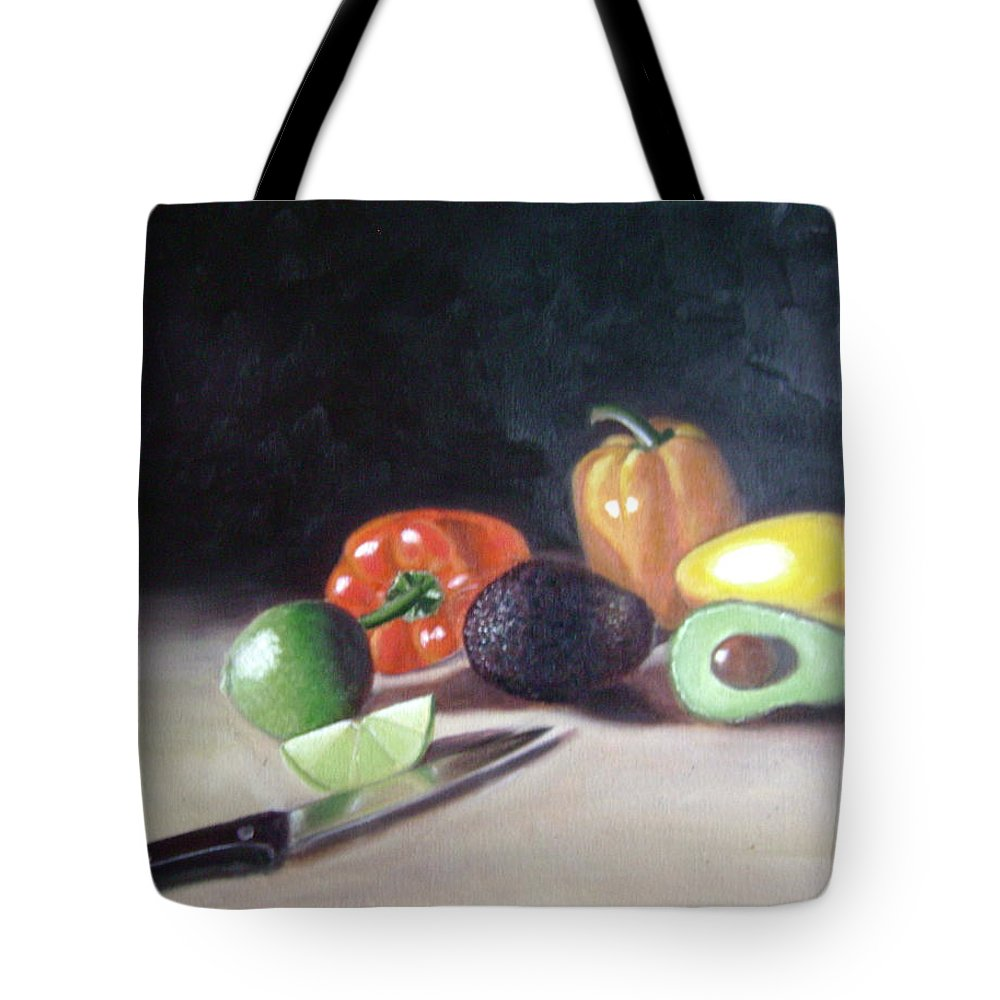 Tote Bag featuring the painting Still-life by Toni Berry