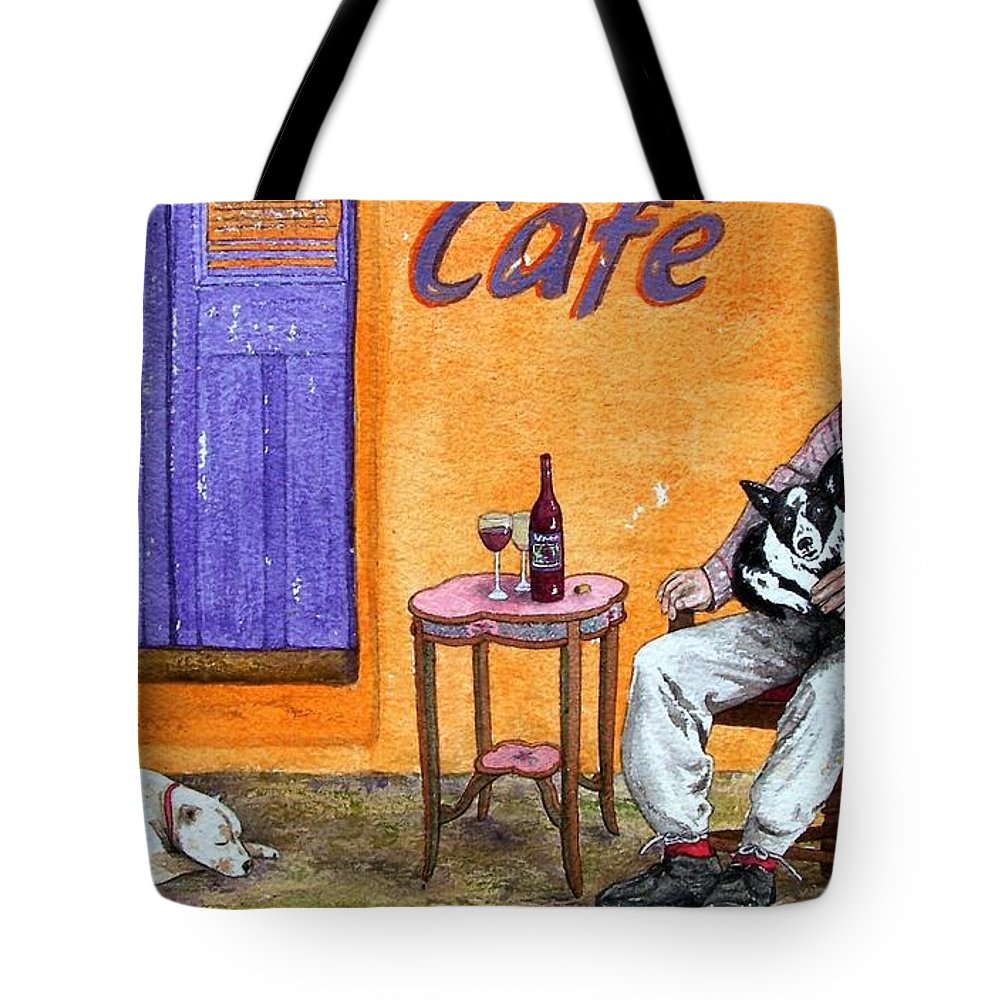 Music Tote Bag featuring the painting Still Life With Dogs And Music by Gale Cochran-Smith