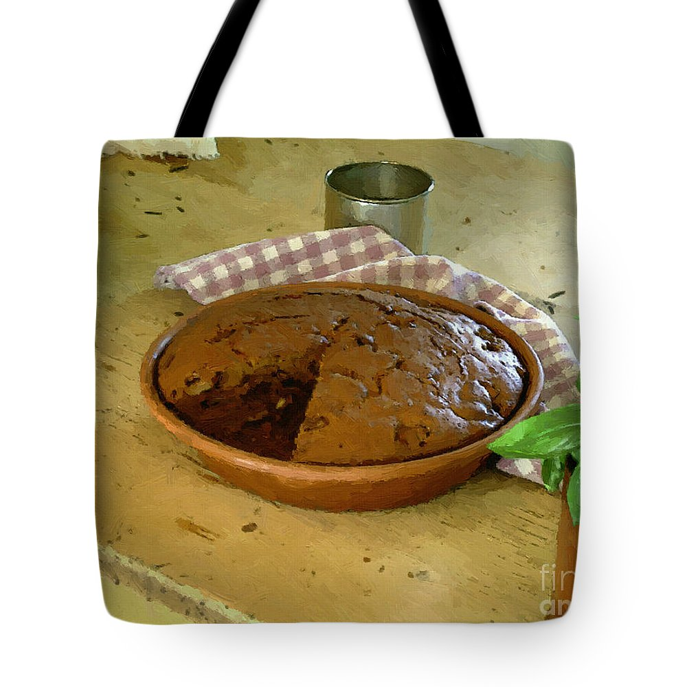 Gingerbread Tote Bag featuring the painting Still Life With Gingerbread by RC DeWinter