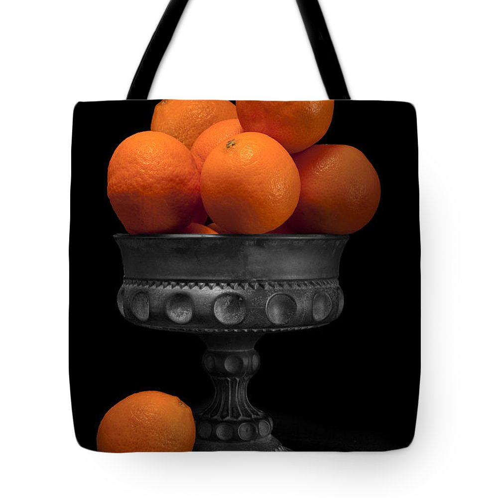Bowl Tote Bag featuring the photograph Still Life With Oranges by Tom Mc Nemar