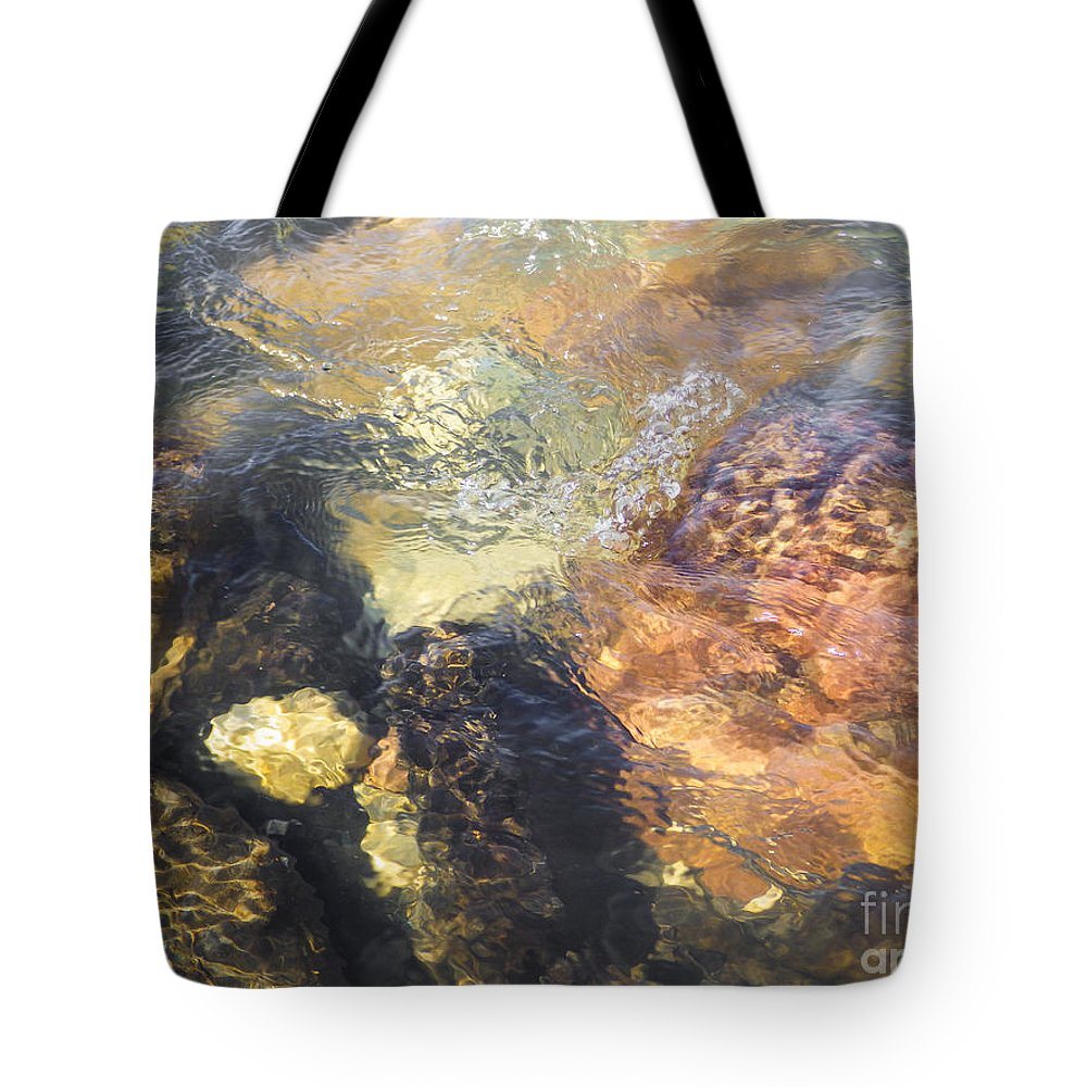 Abstract Tote Bag featuring the photograph Still Moving by Robert Humphries