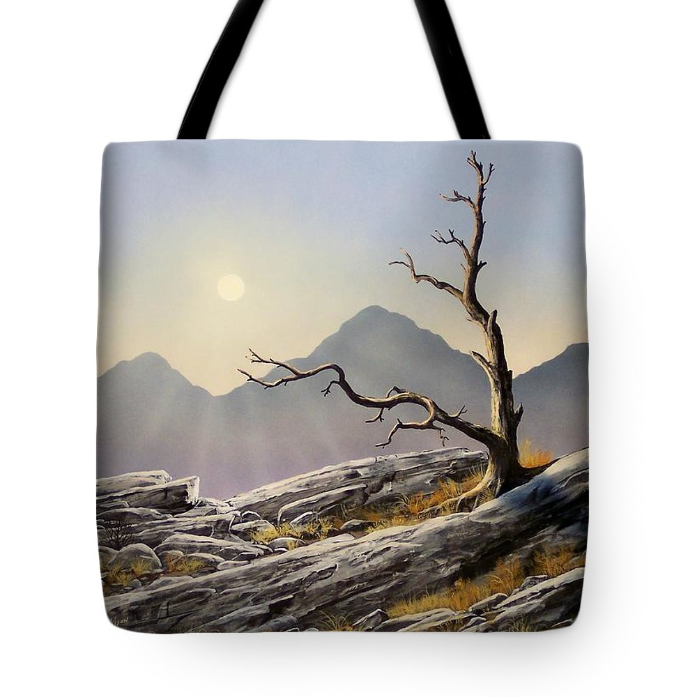 Still Standing Tote Bag featuring the painting Still Standing by Frank Wilson