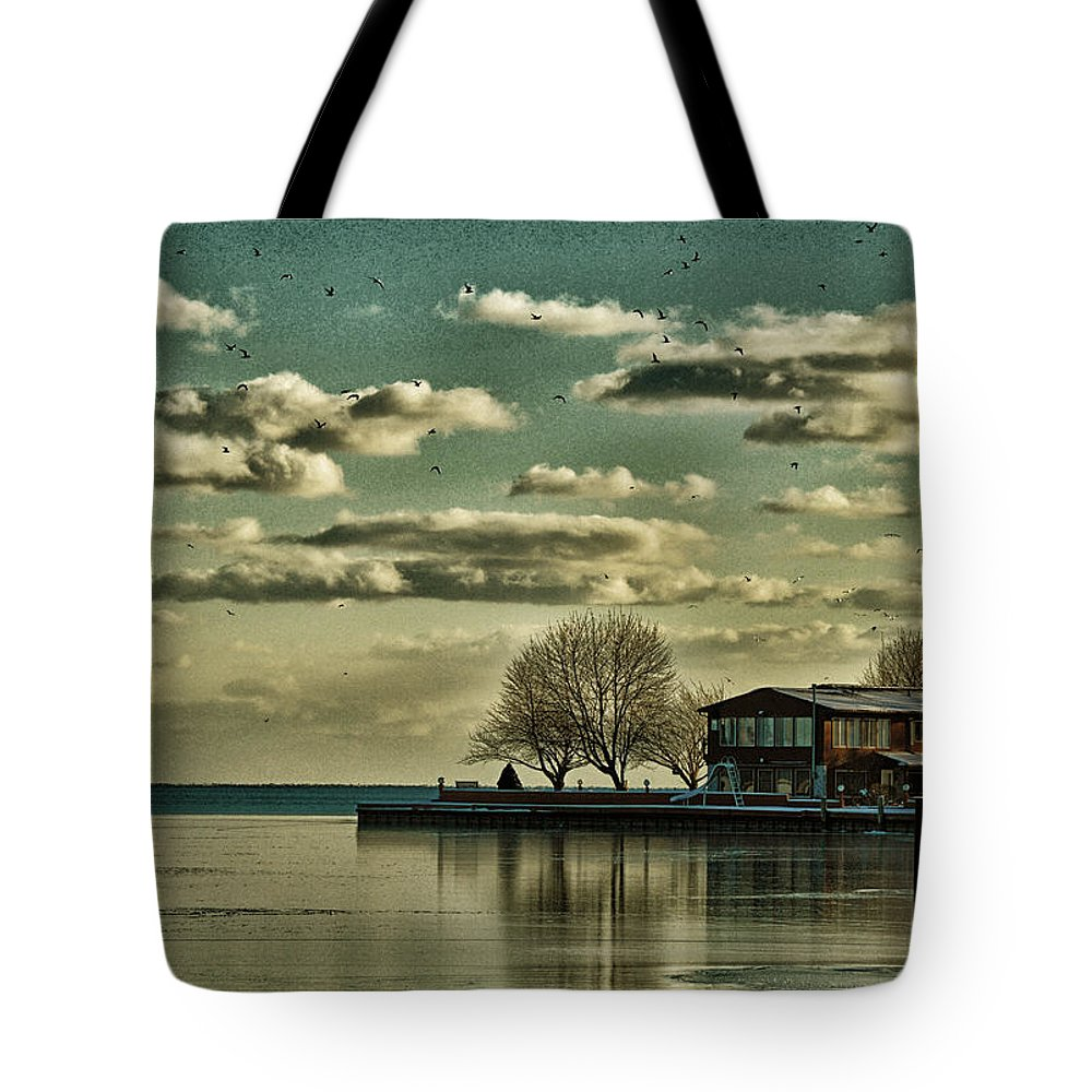 Water Tote Bag featuring the photograph Still Waters by Barbara Treaster
