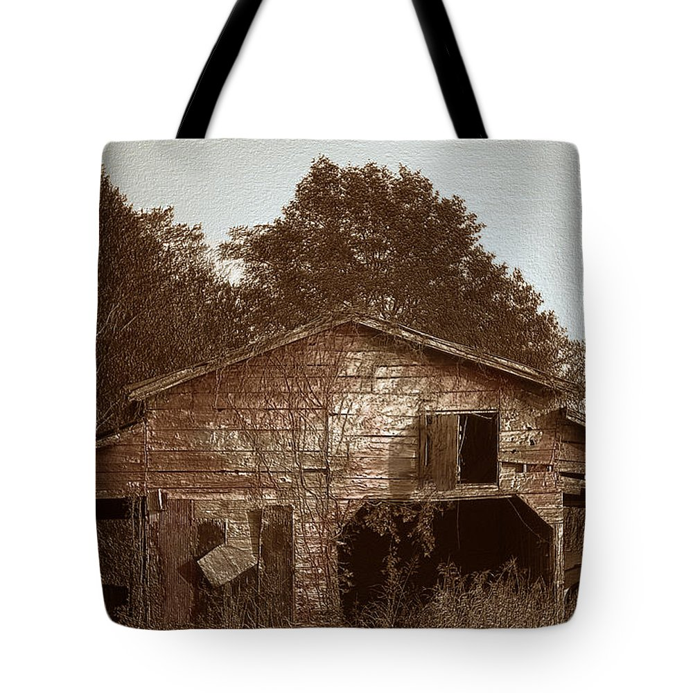 Barn Tote Bag featuring the photograph Still Working by Amanda Barcon