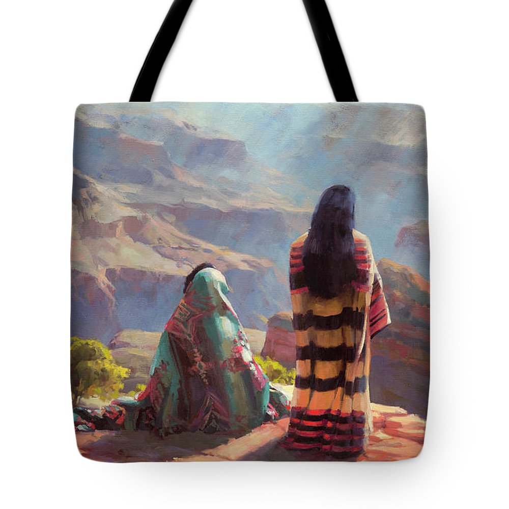 Southwest Tote Bag featuring the painting Stillness by Steve Henderson