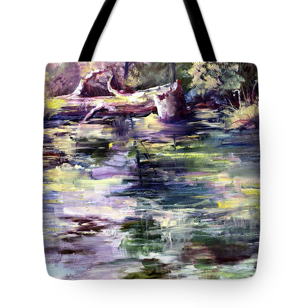 Stillwater Tote Bag featuring the painting Stillwater by Connie Williams