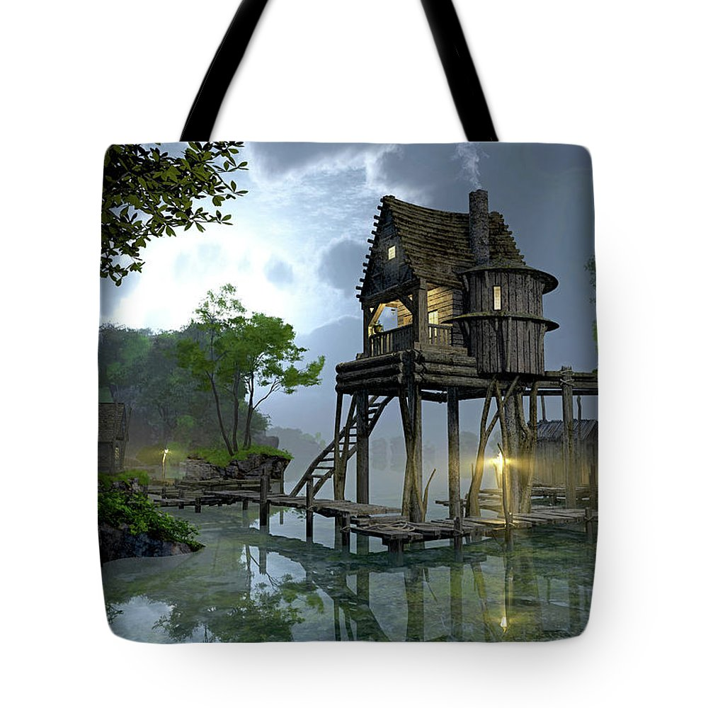 Deck Digital Art Tote Bags