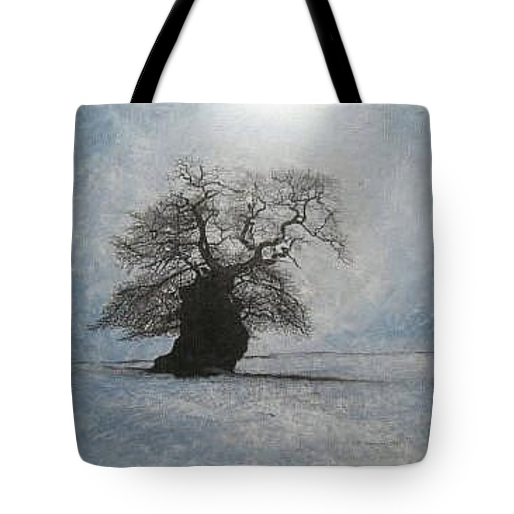 Silhouette Tote Bag featuring the painting Stilton Silhouette by Leah Tomaino