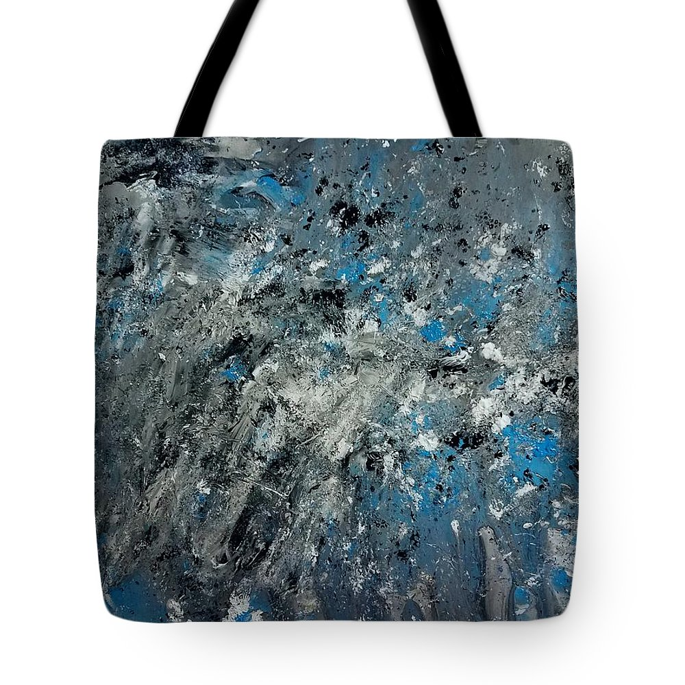 Splatter Tote Bag featuring the painting Stir Crazy by Nicole Clark