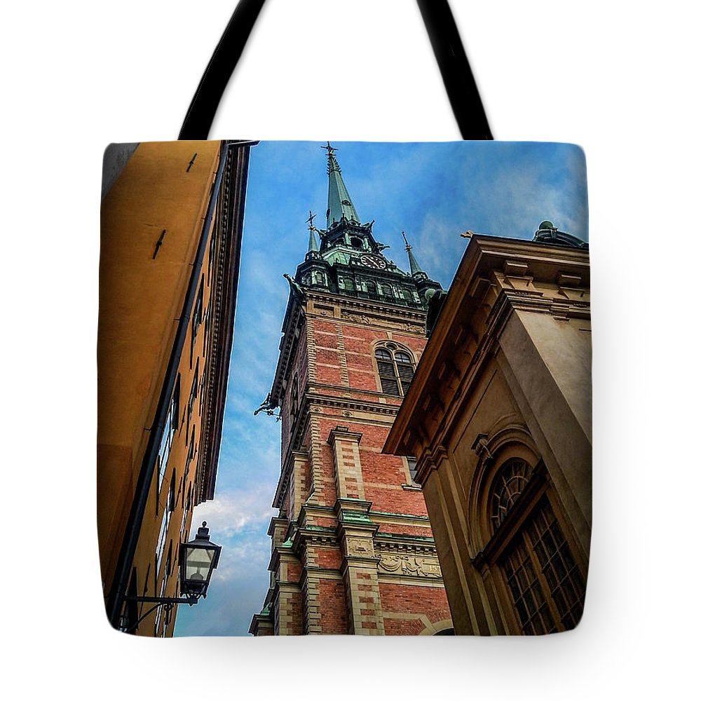 Stockholm Tote Bag featuring the photograph Stockholm 6 by Evil Shadows
